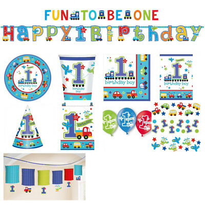 1. Geburtstag Junge, erster Kindergeburtstag Deko, hellblaue Geburtstagsdeko ()