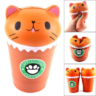 Jumbo Coffee - Jumbo Coffee Cup Cat Scented Squishy Slow Rising Squeeze Toy Stress Release Gift