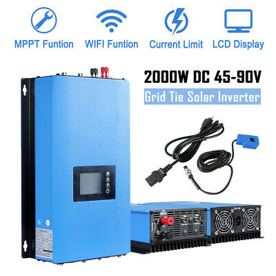 ECO-WROTHY 600W 1KW 2KW On Grid Tie Inverter Solar Panel PV DC-AC 110V Output