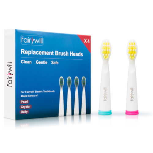 Fairywill Electric Toothbrush 4 Replacement Heads for 507 50