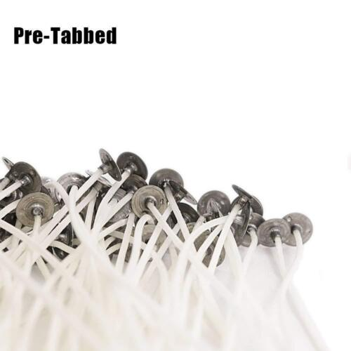 Pack 200 Pre Waxed Candle Wicks for Candle Making With Sustainers 35mm Long