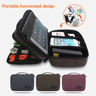 Electronic Accessories Cable USB Drive Organizer Bag Portable Travel Insert Case