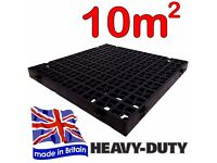 Plastic Grass Grid Squares for Shed Base, Paths etc - (40 grids covers 10m2)-Brand New Unuse