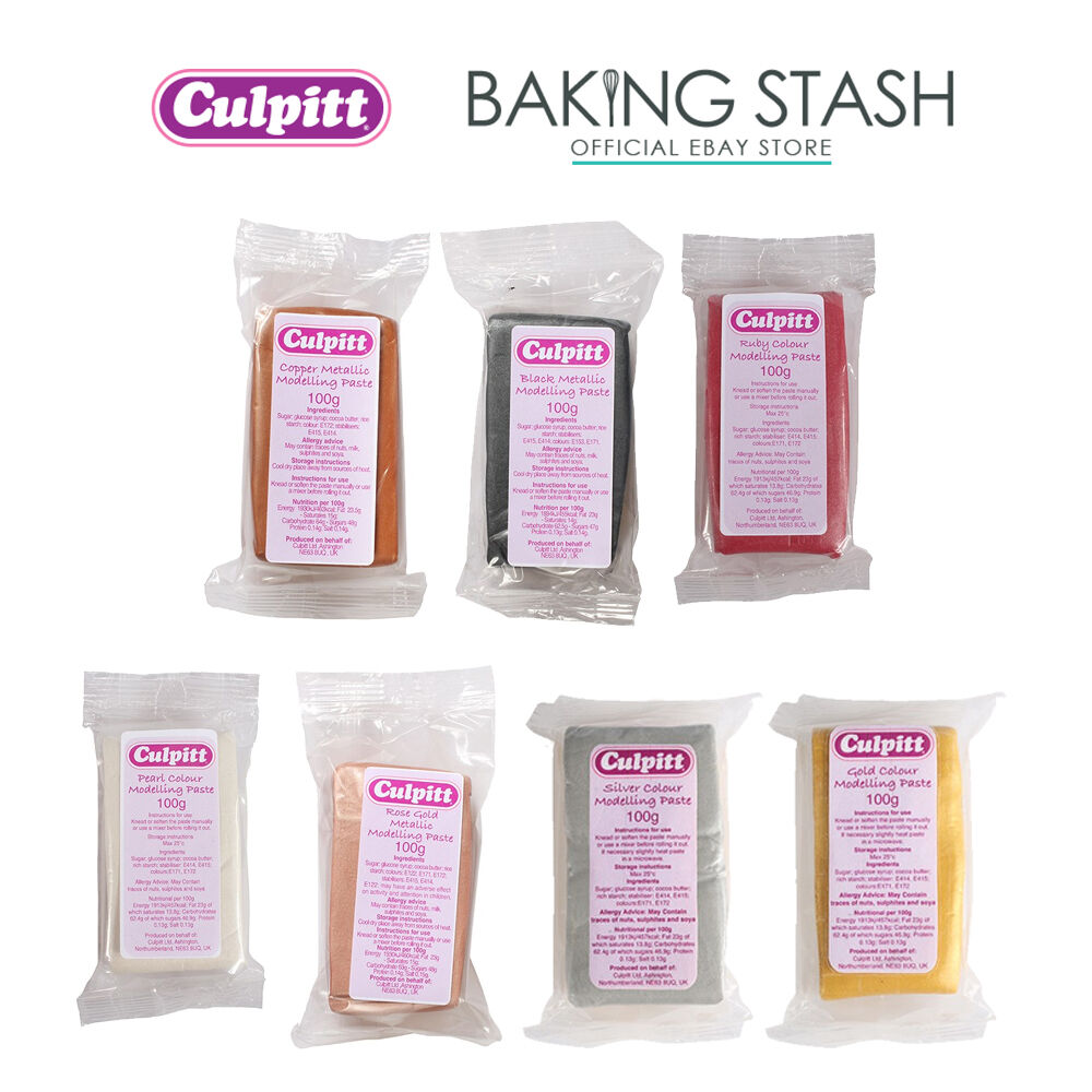 Culpitt Metallic Modelling Paste for Cake Decorating & Sugarcraft