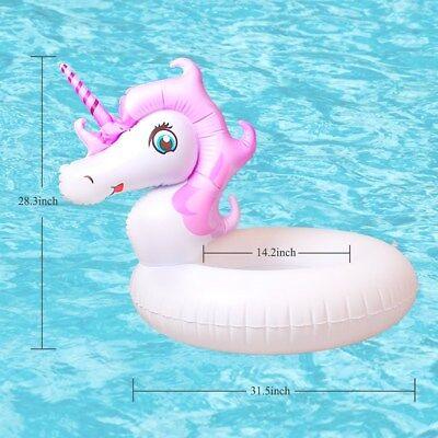 Salvagente Unicorno Viola Ciambella Gonfiabile Bambina x Nuotare e Galleggiare