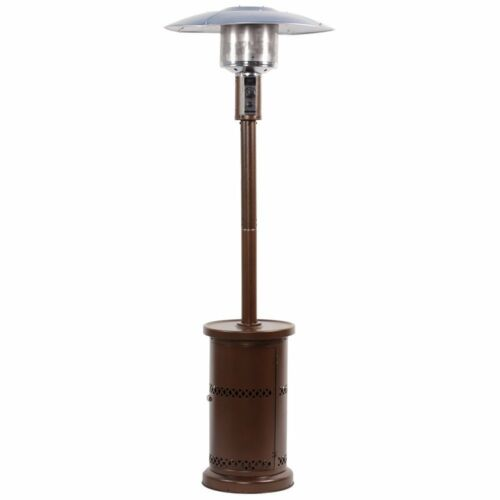 Commercial Outdoor LP Propane Gas Patio Heater Stainless Steel Hammered Bronze