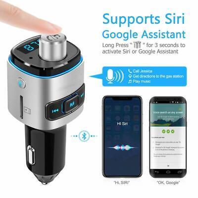 USB Cigarette Lighter Bluetooth Fast Car Chargers Digital LED Voltmeter 12V/24V Digital Fm Transmitter Charger