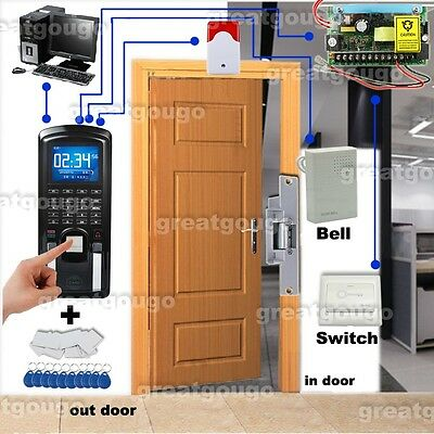 Fingerprint Rfid Reader Password Door Access Control System Time Attendance