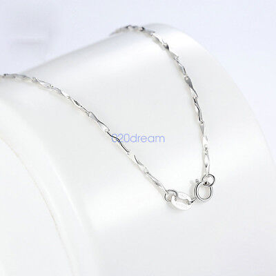 (Fine 925 Sterling Silver Necklace Chain Wish Charms Women Jewelry 16 18 20 22 24)