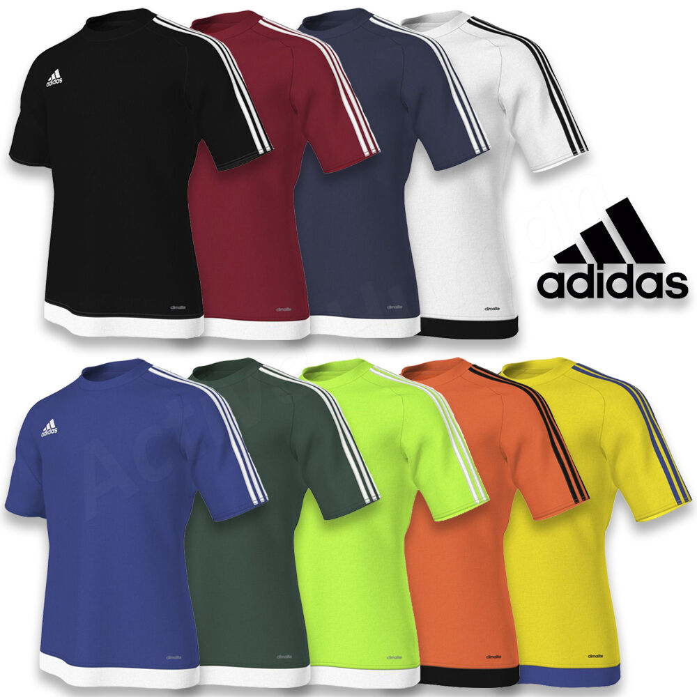 adidas da Uomo Estro 15 Climalite T-shirt maniche corte maglia calcio S M L XL
