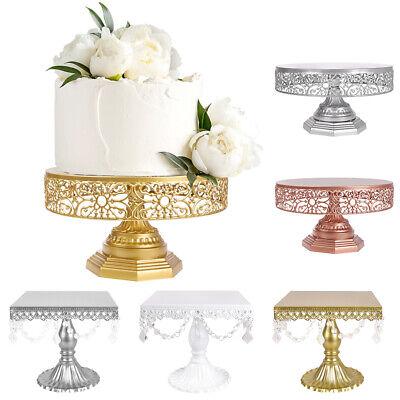Cake Stand Round Square Metal Wedding Dessert Cupcake Pedestal Display 10