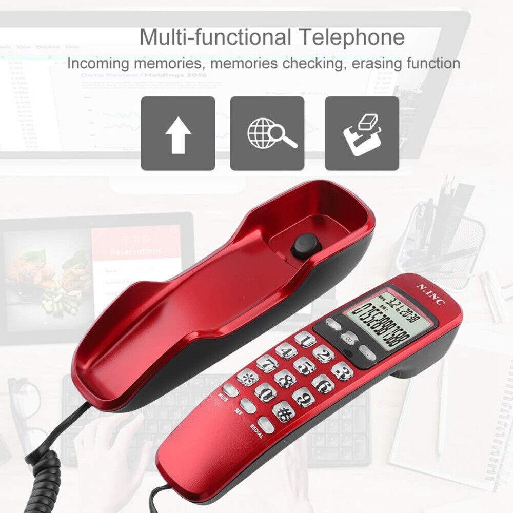 Home Office Corded Telephone Caller ID Wall Desktop Landline