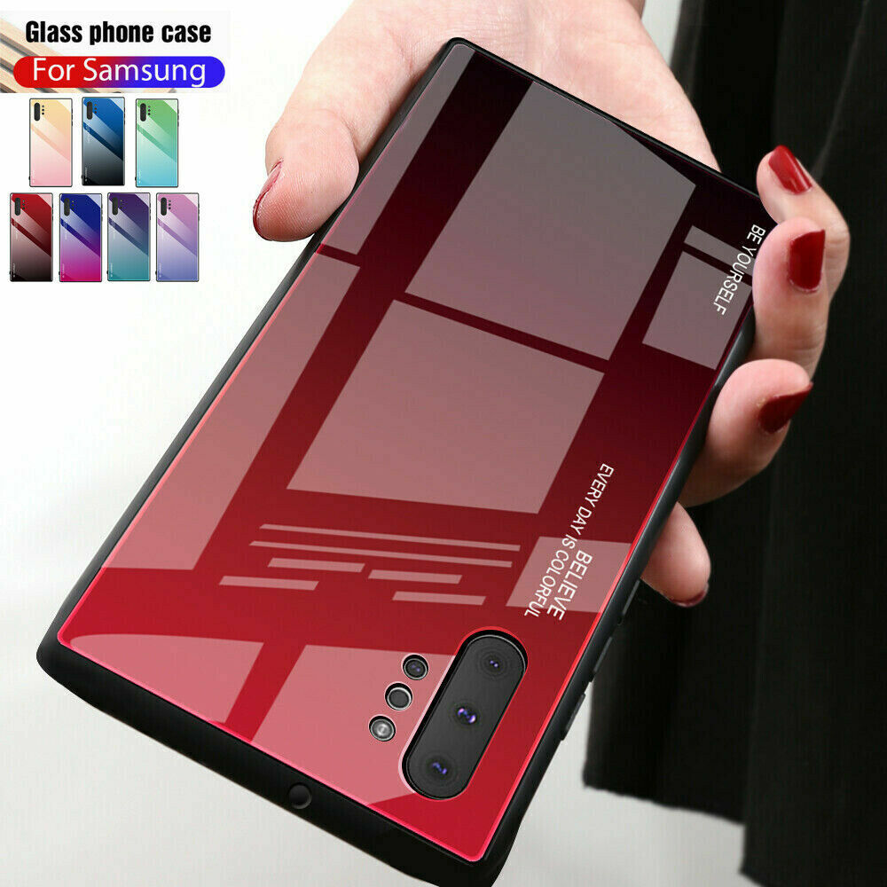Gradient Glass Case For Samsung Galaxy Note 20 10 9 8 S20 Ul