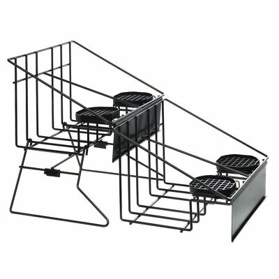 Hubert Airpot Rack For 4thermal Coffee Dispensers With Drip Trays Black Wire