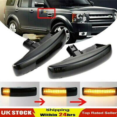 2x Dynamic LED Side Indicator Repeater Light For Range Rover Discovery Freeland