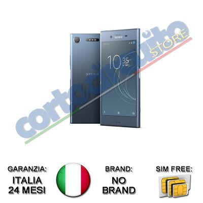 """SONY XPERIA XZ1 MOONLITE BLU 5.2"""" 64GB RAM 4GB 4G LTE NO BRAND GARANZIA ITALIA"""