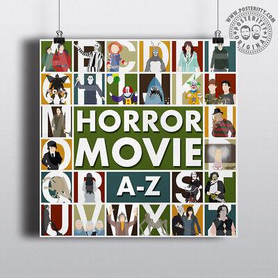HALLOWEEN ALPHABET Minimalist Movie Poster Posteritty Minimal A-Z Print (Minimal Halloween)