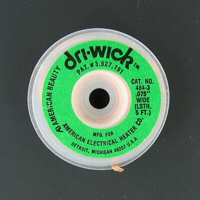 Desoldering Copper Braid Solder Remover Cleaner Wick .075 Inch Wide Green 5 Ft