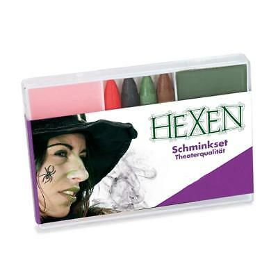 Schmink-Set Hexe Theaterqualität Make up Halloween Horror Fasching 123054013 ()