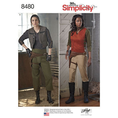 SIMPLICITY PATTERN 8480 MISSES STAR WARS JYN ERSO ROGUE1 COSTUMES 6-14 or 16-24  - Rogue Costume Pattern