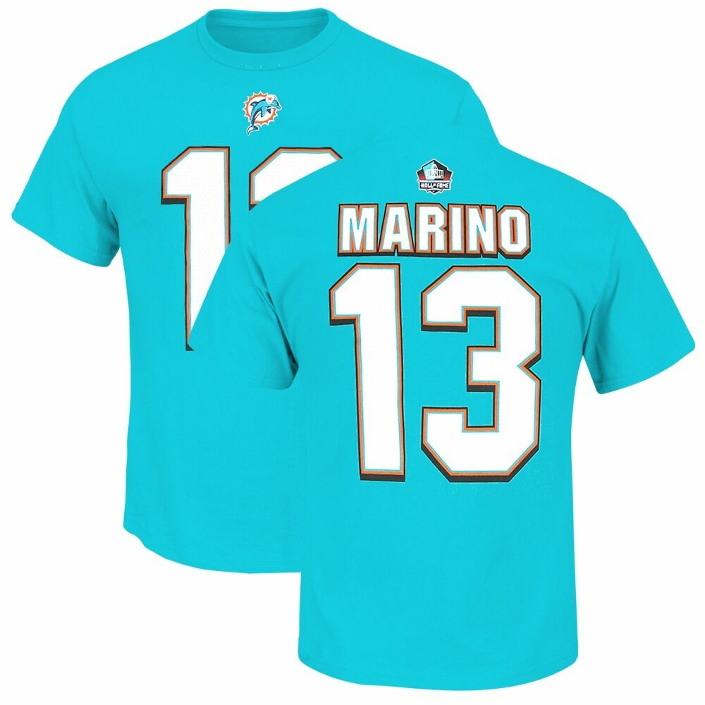 NFL CURRENT & FUTURE HOF'ers & STARS Player Name & # Jersey T Shirt by MAJESTIC