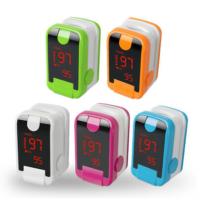 New Led Finger Pulse Oximeter Blood Oxygen Saturation Spo2 Heart Rate O2 Monitor