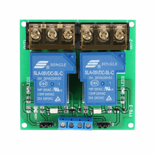 USA! 2-Channel DC 5 VDC 30A Relay Board Module Optocoupler Isolation High/Low