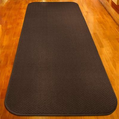 22 ft x 27 in SKID-RESISTANT Carpet Runner CHOCOLATE BROWN h