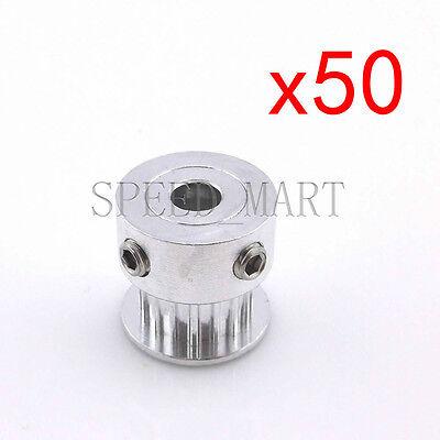 50pcs Gt2 Aluminum Timing Pulleys Reprap Prusa Mendel 3d Printer 16 Tooth Teeth