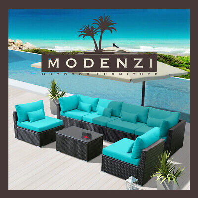 7G Outdoor Wicker Rattan Sectional Patio Furniture Sofa Set Garden Chair Couch