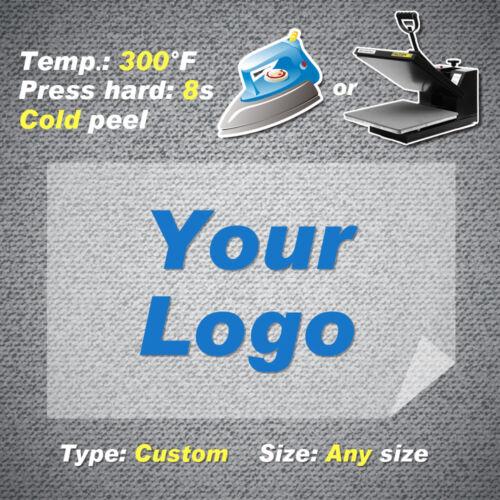 Custom Heat Transfers Plastisol Personalized Iron On Patch Sticker Fabric Press