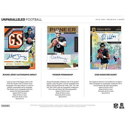 HOUSTON TEXANS 2018 PANINI UNPARALLELED FOOTBALL 4 BOX HALF CASE BREAK #5