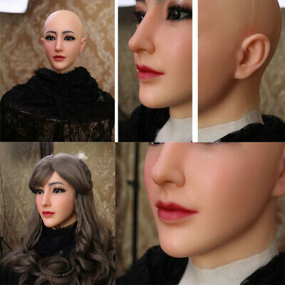 Silicone Female Mask Silicone Head Mask  For Crossdressers Transgenders Cosplay