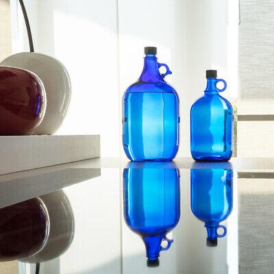 Globo de Cristal Botella 2 Litros & 5 Azul - Galón Damajuana...