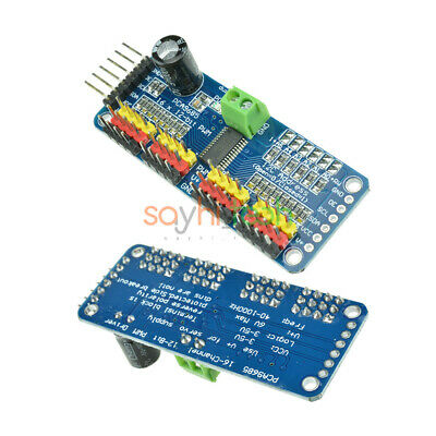 Pca9685 16 Ch 12-bit I2c Pwm Servo Shield Motor Driver Module For Arduino Robot