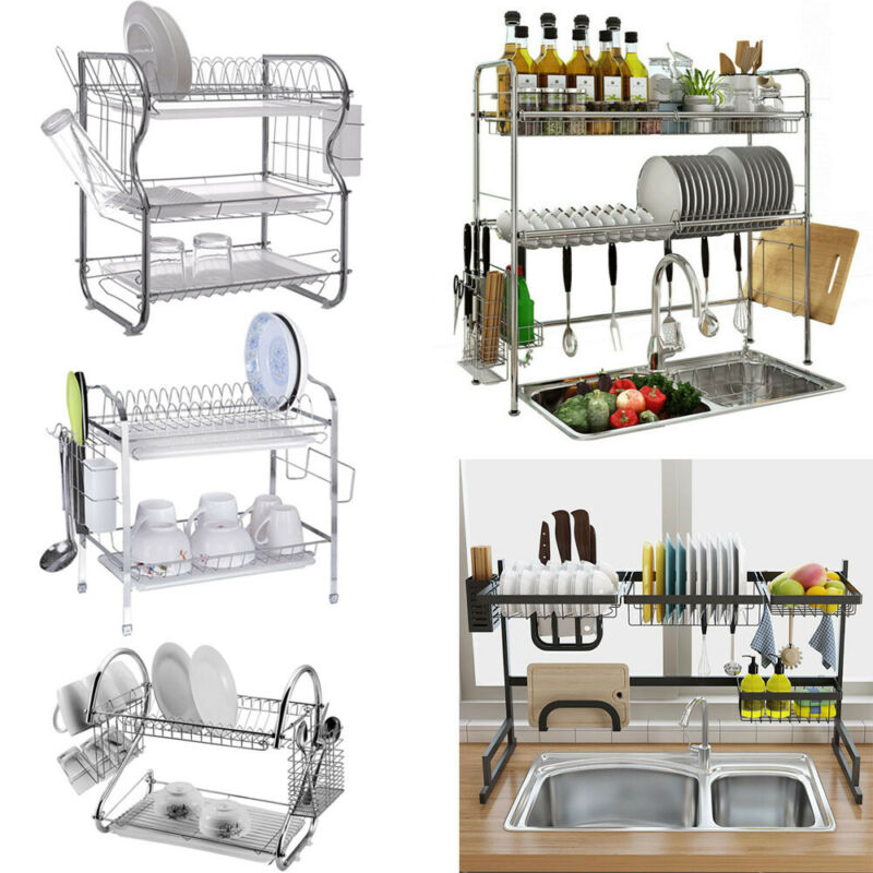 large dish drying rack cup drainer 2