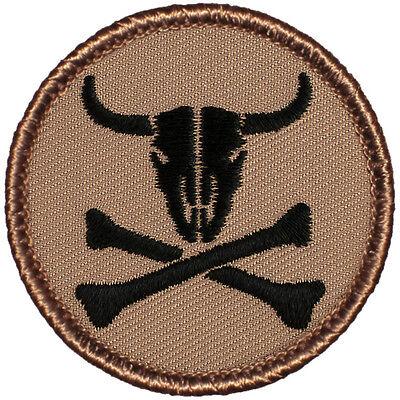Boys Buccaneer Bones Pirate - Crazy Boy Scout Patches - The Cow Bone Pirate Patrol Patch!! (#682)