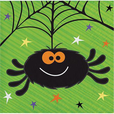 Halloween Getranke (16 Halloween Süß Spinne Getränke Servietten Kind Party Geschirr)