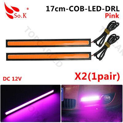 Waterproof 17cm COB Purple Car LED Lights 12V for DRL Fog Light Driving lamp X 2