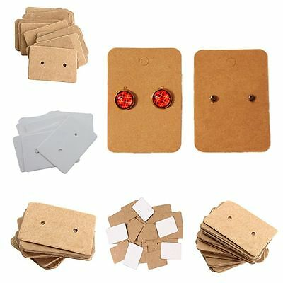Kraft Package Earring Holder Paper Cards Display Cards Ear Studs Hanging Cards