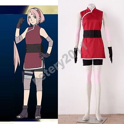 Naruto Outfits (Naruto The movie The last Sakura Uchiha Cosplay Costume Ninja)