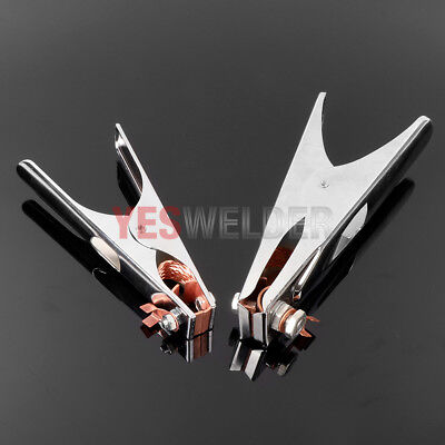 2-pk Mma Arc Stick Manual Welding 300a500a Earth Ground Clamp Yeswelder