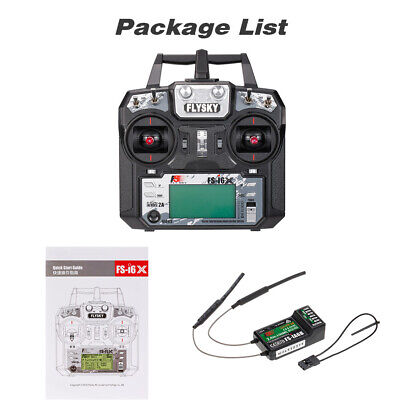 Flysky FS-I6X 2.4G 6CH AFHDS 2A RC Transmitter + FS-IA6B Receiver For RC Drone