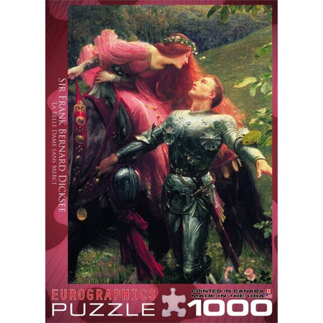 1000 Piece La Belle Dame Sans Merci Puzzle By Sir Frank B. Dicksee - B.