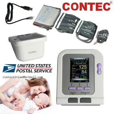 Contec08a Digital Blood Pressure Monitor Nibp Machineadultpediatric Cuffsspo2
