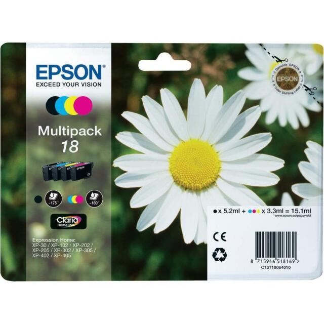 Genuine Epson 18 T1806 Ink for Expression XP-305 XP-405 XP-415 XP-202 XP-205
