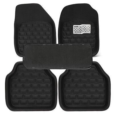 - 5PC Deluxe Leather Car Floor Mats Full Set Interior Carpet Accessories Universal