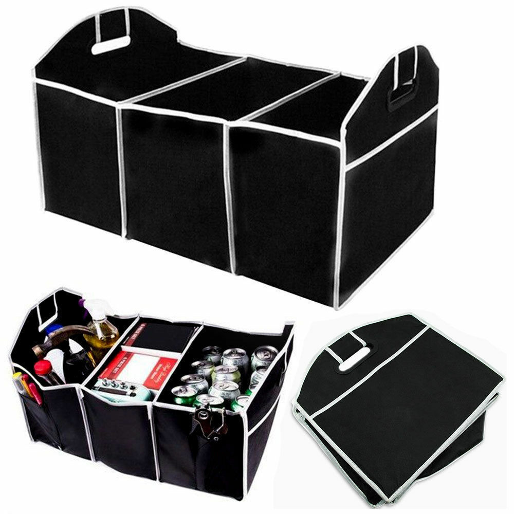 Portable Collapsible Folding Flat Trunk Auto Organizer for Car SUV Truck Van Car & Truck Parts