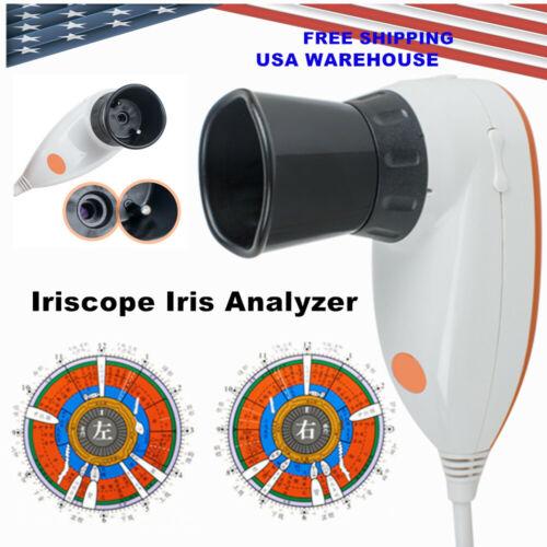 CE 5.0MP Iriscope Iris Analyzer Iridology camera+Iris Software USB+Aluminum Box