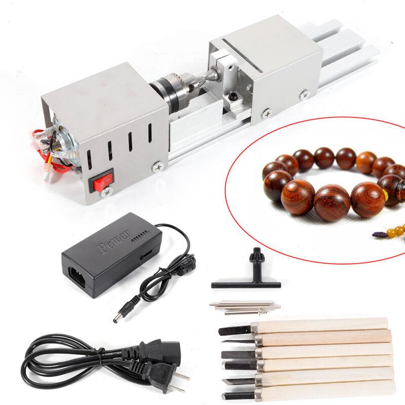 100W High Precision Mini Lathe Beads Polisher Woodworking Lathe Machine US